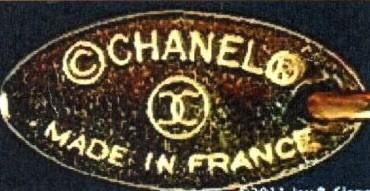 1980-е гг CHANEL в овальной оправе, знак авторского права и защищенной марки,логотип двух перекрещивающихся СС и подпись MADE IN FRANCE