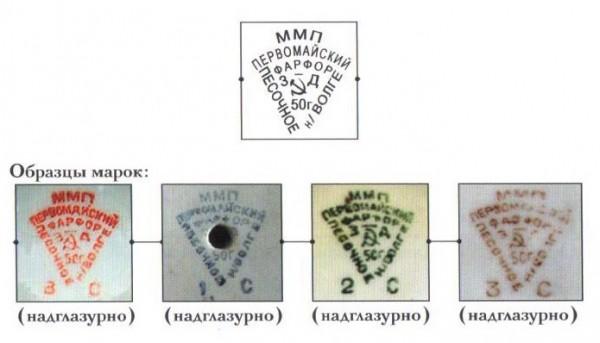 1950-1952 гг. Сорт: высший — красный; 1-й — синий; 2-й — зеленый; 3-й — коричневый/черный.